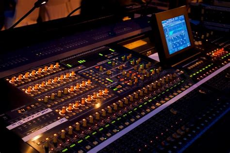 Mixer Audio 2 Jutaan sound mixer in concert stock photo colourbox