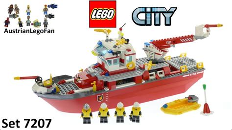 lego city fishing boat speed build lego city 7207 fire boat lego speed build review