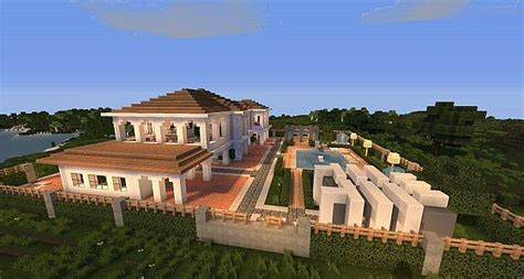 minecraft house download hollywood style minecraft house minecraft building inc