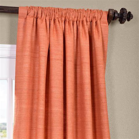 raw silk curtains classic terracotta raw silk curtain panels silk drapes