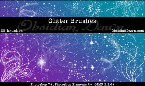 glitter sparkles brushes by redheadstock on deviantart