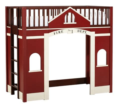 firehouse bunk bed firehouse loft bed pottery barn