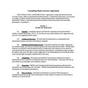 master contract template master service agreement 10 free documents in