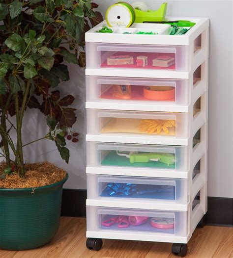 Office Storage Drawers Six Drawer Office Storage Chest White In Storage Drawers
