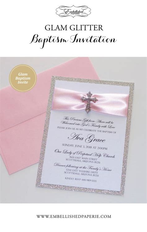 customized invitation card for christening baptism invitation christening invitation glitter