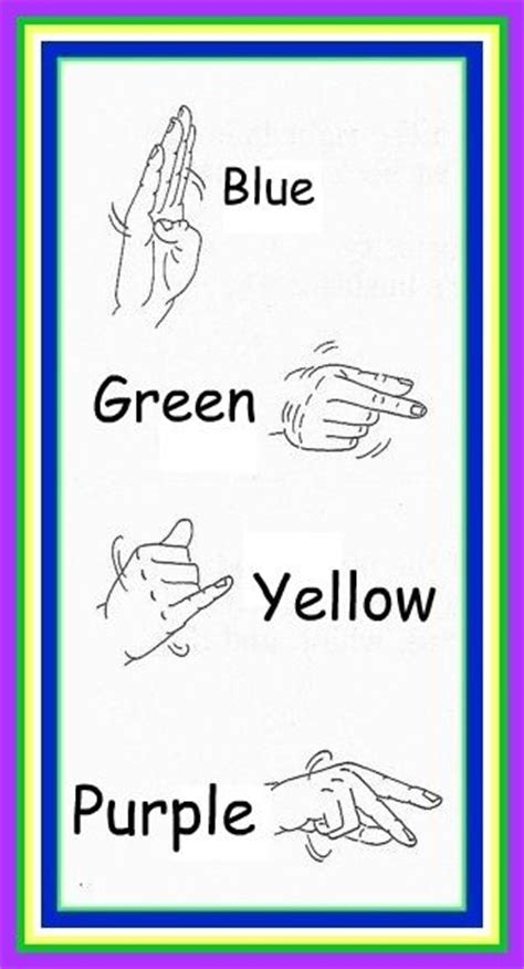 sign language for colors sign language colors sign language