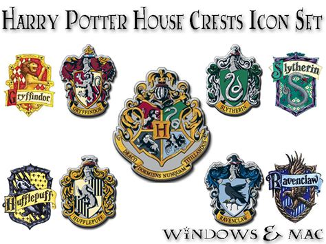 harry potter house harry potter house crest icons by xnauticalstar on deviantart