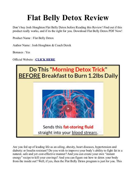 Josh Houghton Flat Belly Detox Reviews by Josh Houghton S Flat Belly Detox Manual Pdf Ebook Is It
