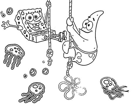 spongebob coloring pages download sponge bob squarepants squidward and mr krabs coloring