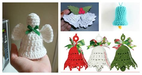 free christmas bell ornament crochet patterns