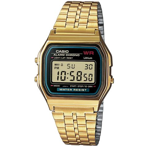 Casio Gold casio a159wgea 1ef s classic retro gold plated steel