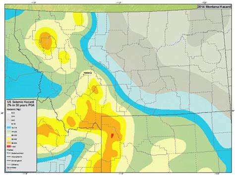 earthquake zone map information by region montana