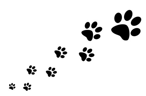Four Legged Friends Paw Print Silhouette