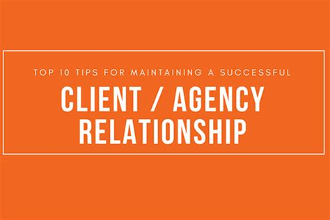 10 Secrets For A Successful Relationship by Top 10 Tips For Maintaining A Successful Client Agency