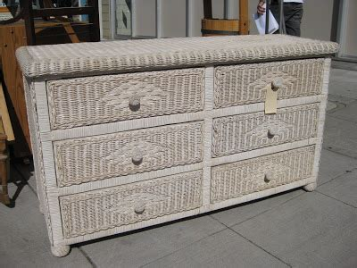 White Wicker Dresser by Uhuru Furniture Collectibles Sold White Wicker