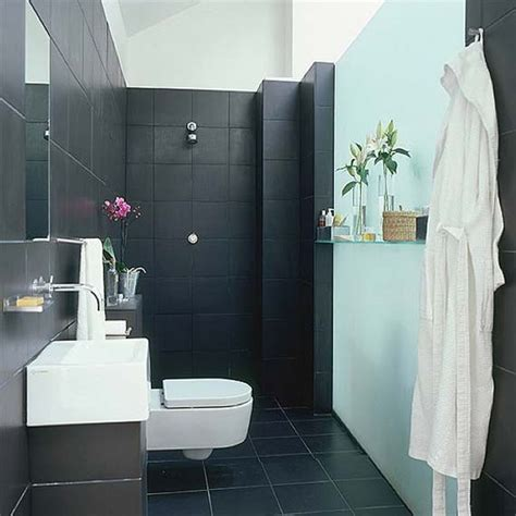 34 Black Bathroom Tile Ideas And Pictures Black Tile Bathroom Ideas
