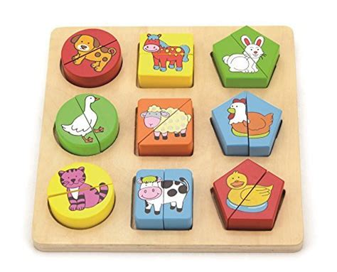 Puzzle Knob Premium Farm compare price to wood animal shapes tragerlaw biz