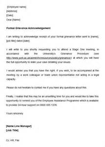Acknowledgement Grievance Letter 31 Acknowledgement Letter Templates Free Sles Exles Format Free Premium