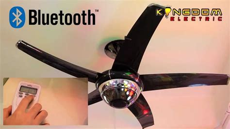 Ceiling Fan With Bluetooth Speaker - deka bluetooth fan demo