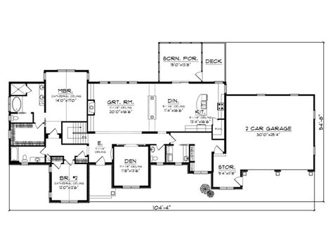 empty nester floor plans empty nester house plans ranch empty nester home plan