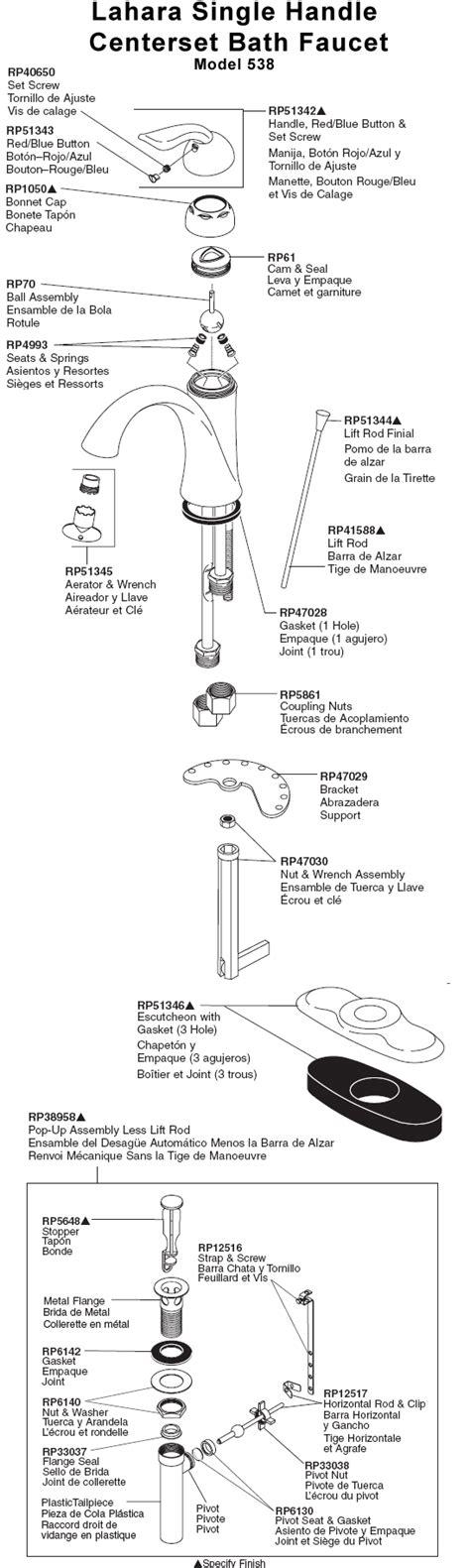 delta faucet parts diagram