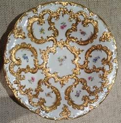 antique meissen gilded porcelain plate 163 471 23 picclick uk