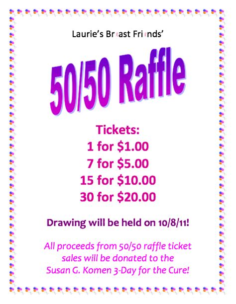 50 50 raffle ticket template free 11 best photos of 50 50 raffle flyer templates word 50