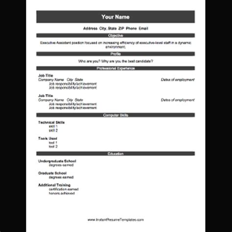 Free Resume Templates You Can Print Free Printables For Hunters