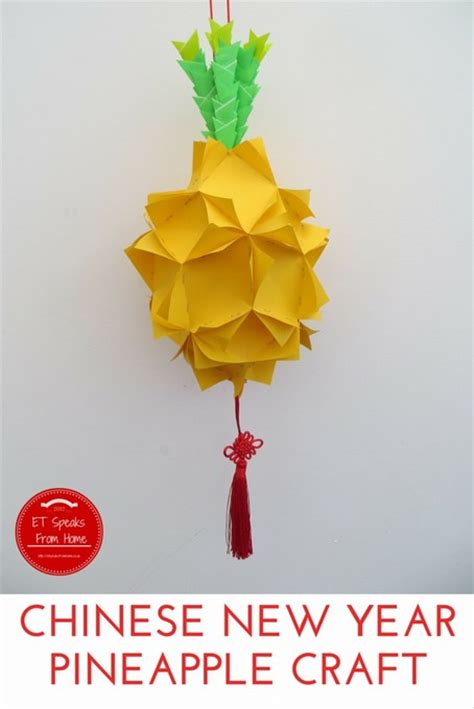 New Year Paper Crafts - new year pineapple craft et speaks from home