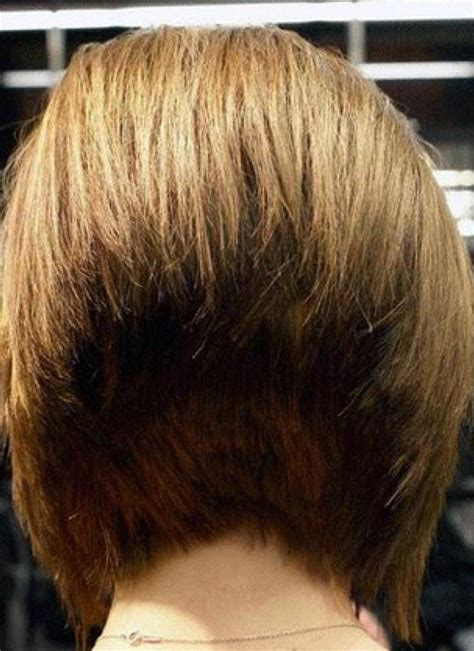 bob hairstyle cut wedged in back short bob wedge haircut back view short hairstyle 2013