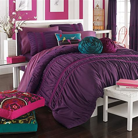 kas eloise mini comforter set plum bed bath beyond