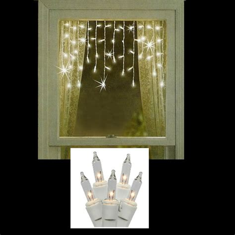 window icicle lights incandescent string lights icicle lights 50 clear