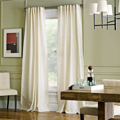 ivory silk drapes soho silk curtain ivory west elm