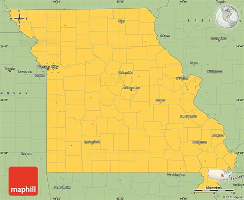 united states map missouri savanna style simple map of missouri