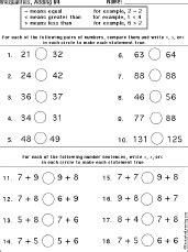 Enchanted Learning Math Worksheets by Inequalities Printout Inequalities Worksheet Printout 4