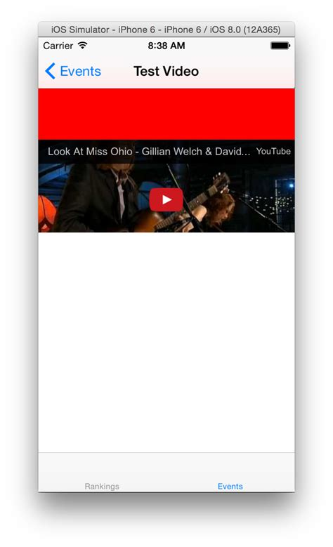 new youtube layout ios ios youtube video layout issue margin above player