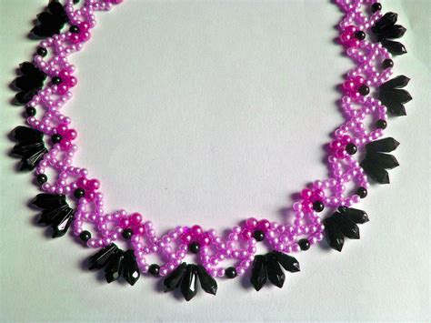 bead magic free pattern for beautiful beaded necklace primrose with