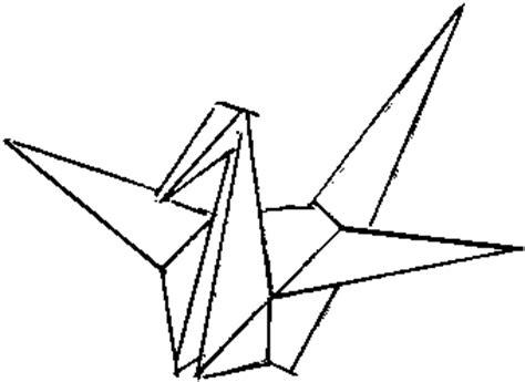 Origami Crane Outline - paper crane ink me paper crane