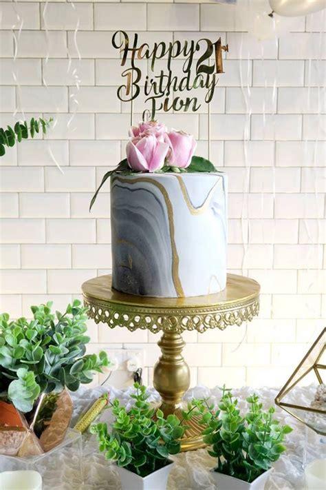 Karas Party  Ee  Ideas Ee   Elegant Marble Inspired  Ee  St Ee    Ee  Birthday Ee