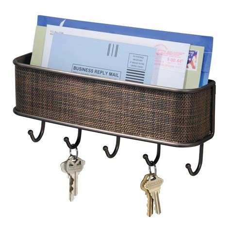 Wall Mounted Mail Organizer And Key Rack by Interdesign Wall Mail Letter Key Holder Hook Rack Hanger