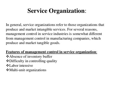 service organizations management system in service and multinational organization