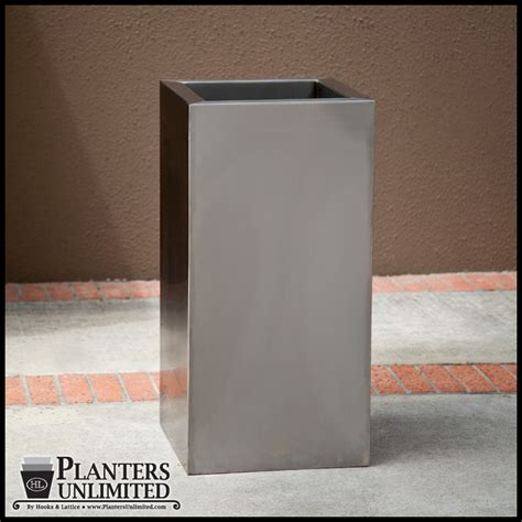 Stainless Steel Planter Box by Stainless Steel Planters Steel Planter Boxes Planters