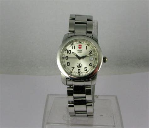Swiss Army Original 2070 Silver Black collectible watches original vintage victorinox swiss army silver stainless steel