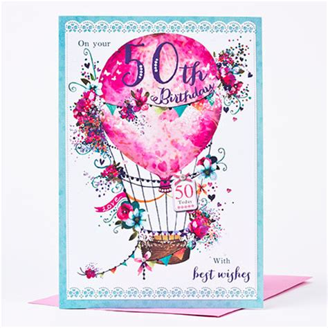 Free 50th Birthday Cards 50th Birthday Card Fifty Fabulous Only 99p