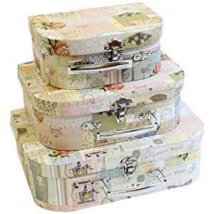Boudoir suitcase storage boxes amazon co uk kitchen amp home