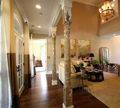 living room wood columns salvaged for the home pinterest