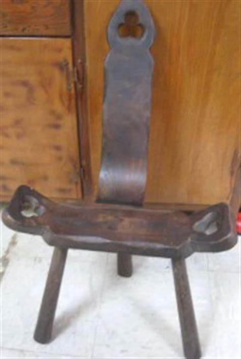 primitive handcarved labor birthing chair wood antique 3
