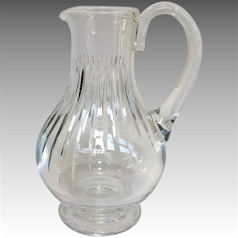 The Pitcher 1 73 baccarat massena pitcher 9 5 quot antiques of river oaks ruby