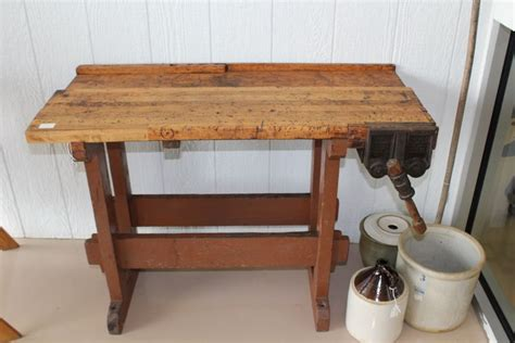 old wooden work bench woodwork antique wood workbench pdf plans