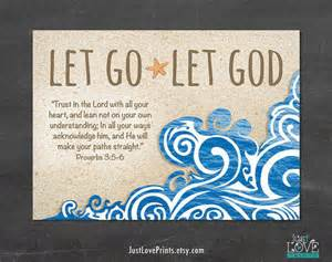 Let go let god proverbs 3 5 6 7x5 from justloveprints on etsy